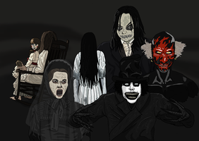 Demonic and Ghostly Horror Icons - OMM26 by Juggernaut-Art