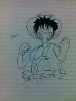 Mad luffy by IRCSS