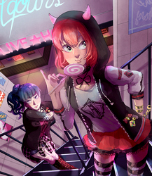Punk Ruby and Yoshiko by lyoxsiis