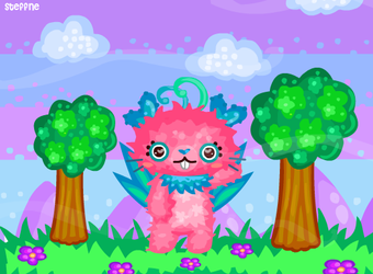 Pink monster paradise by steffne