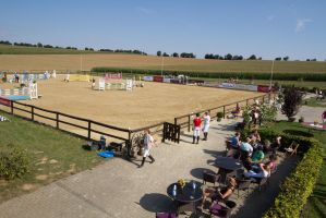 Show Jumping Competition Judges' View by LuDa-Stock