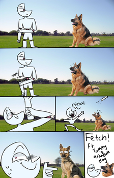 FETCH!- ft. tommy and a random dog by DoodlyDoodlerDoo