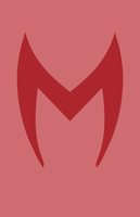 Scarlet Witch Mask Minimalist Design by burthefly