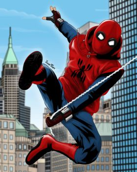 Spider-Man in New York by isaactiapa