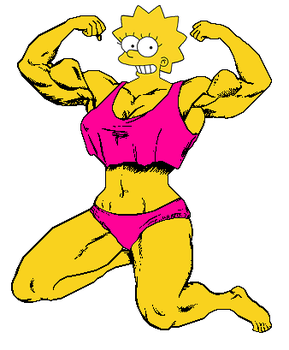 Muscular Lisa Simpson by Gabkat2007