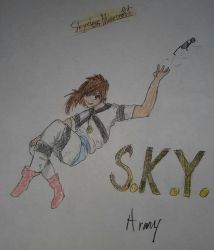 Sky Does Minecraft: Anime Drawing by DiamondCry