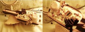 Pink Chocolate Decoden Brush by Lanaleiss