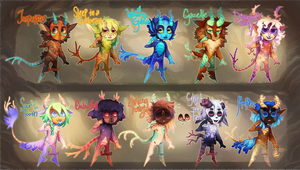 {Flatsale} Painted Satyrs! [closed] by AgentCorrina