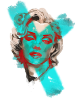 Marilyn Monroe with Speedpaint-Video by minoanoa