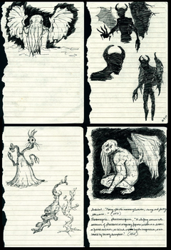 Eldritch Journal: loose sketches by Dark-Eyed-Junco