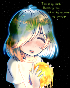 Earth chan`s heart by OgniFireheart