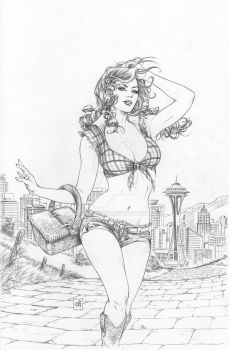 Dorothy goes to Seattle by Kromespawn