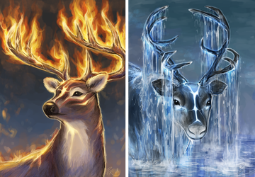 Magical deers by Toivoshi