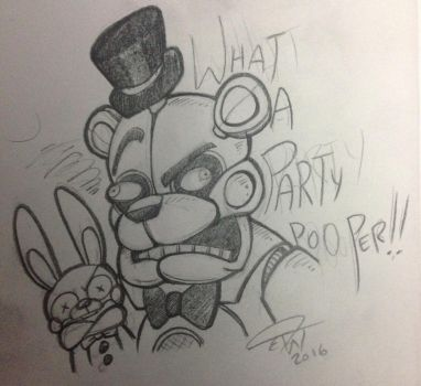 Angry Bear and Salty Hare by theStupidButterfly