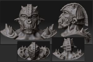 Speed Modeling Orc 3D 4 by otas32