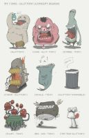 Cute Seven sins - Gluttony Character Design by SEEZ85