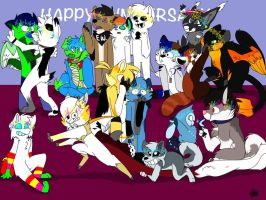 Really Late Anniversary of SuperDog Group Photo! by SoupaChrome