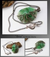 Brae- wire wrapped pendant by mea00