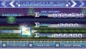 (Sonic vs Darkness TNR) Results Screen by Kainoso