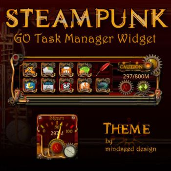 Steampunk Task Manager Widget Design for Android by mindseed-design