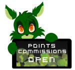 PC - Frank Points Commissions Open Stamp by InkCartoon