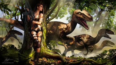 Jurassic Hunter. Splash Screen. by javieralcalde