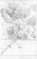 Mighty Thor 5 page 6 Pencils. by DexterVines