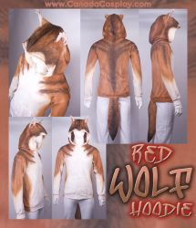Red Wolf Hoodie by KayPikeFashion