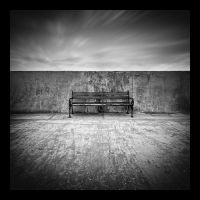 Bench by white-white