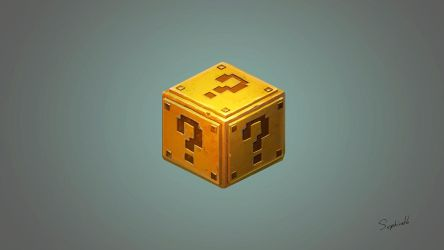 Isometric Mario Golden Box | FanArt#2 by Sephiroth-Art