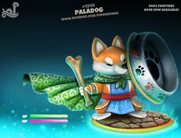 Daily Paint 1948# Paladog by Cryptid-Creations