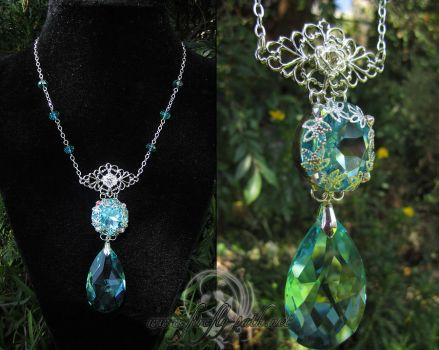 Celestial Droplet Necklace by Firefly-Path