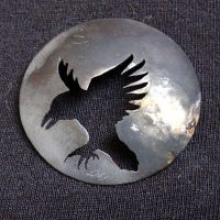 Crow Dome Brooch by entanglement