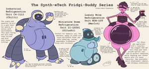 More Robots from Synth-eTech: Fridges by Axlwisp