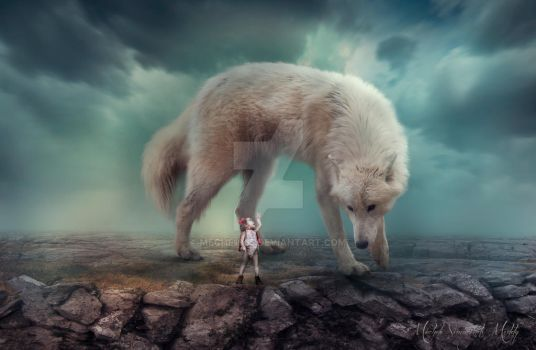 ~Who's afraid of the big bad wolf by meche1965