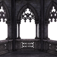 RESTRICTED - Dark Gothic Balcony 01 by frozenstocks