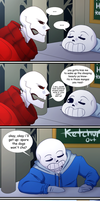 [UT COMIC] PAGE 3: Where's Frisk? by putt125