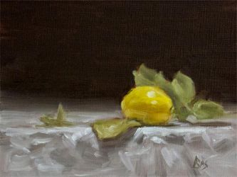 Lemon with Leaves by Brandon-Schaefer