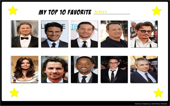 My Top 10 Favorite Actors by xxphilipshow547xx