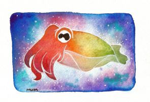 Psychedelic cuttlefish by scilk