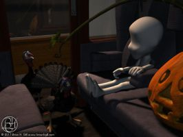 On the Halloween Express by Norski