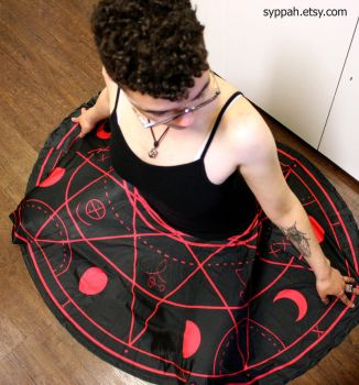 Demon Summoning Circle Skirt by syppahscutecreations
