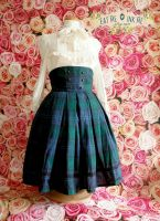 Military tartan skirt by zeloco