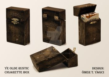 Ye Olde Rustic Cigarette Box by omerty