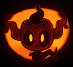 Phantump on a Pumpkin by johwee