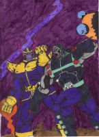 Thanos Vs. Darkseid v.2 by QBZ