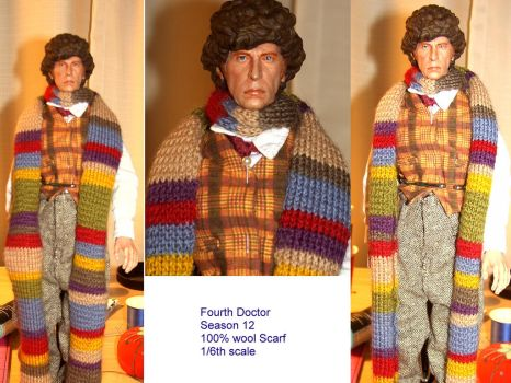 Fourth Doctor Scarf Season 12 By Lasirenofeire On Deviantart