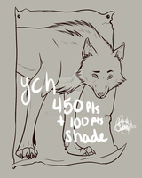 YCH wolf (450pts) -Open 2 Slots- by Buddy1438
