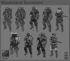 Wasteland Characters by Legato895