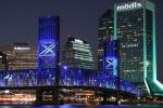Jacksonville, Florida at Night by Shamar-Benoit